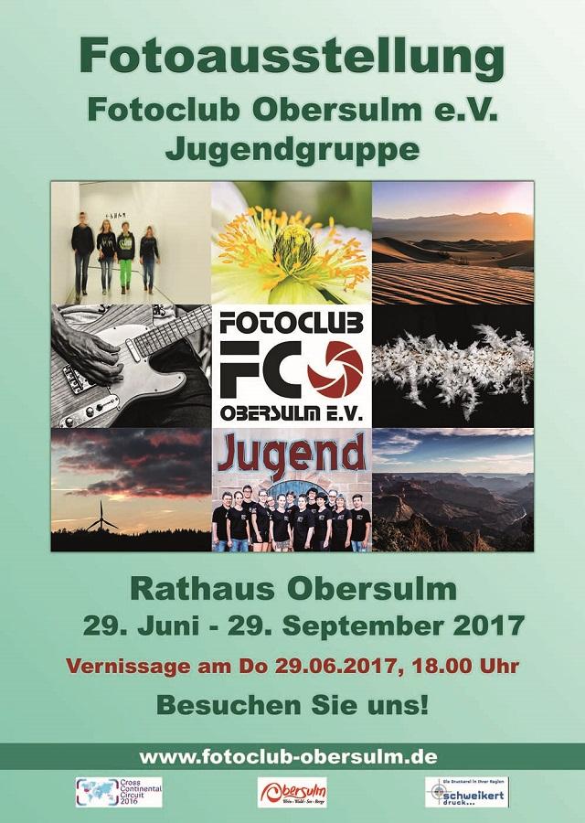Fotoausstellung Jugendgruppe mit Vernissage am 29.06.2017