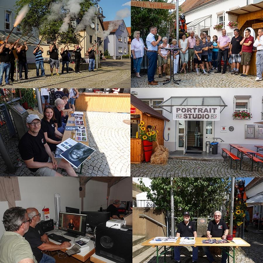 Beteiligung des Fotoclubs Obersulm am Dorffest in Sülzbach mit einem Portraitstudio
