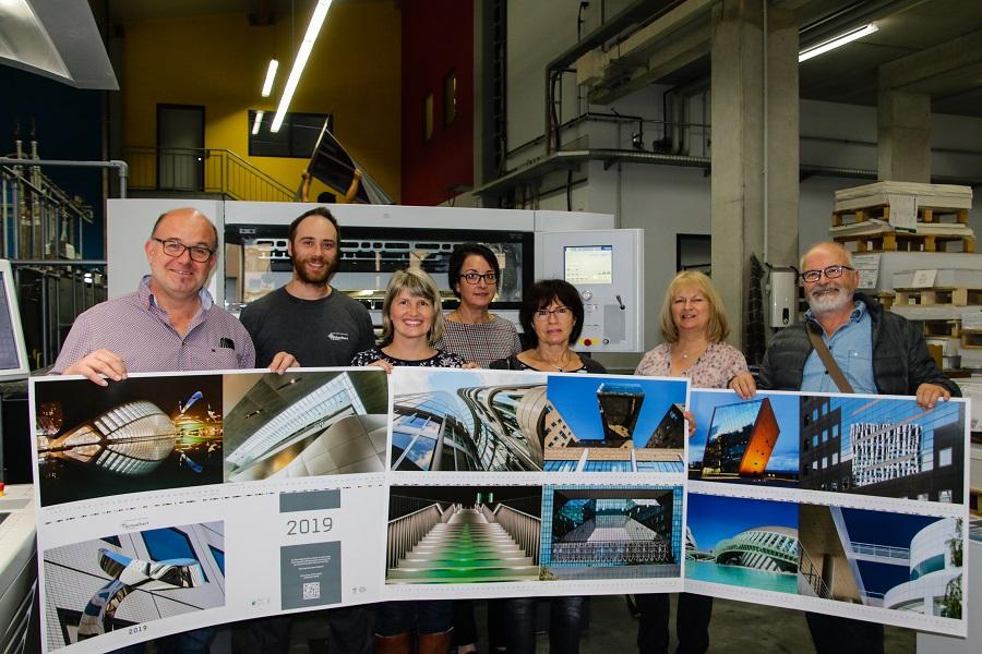 Fotokalender der Firma Schweikert Druck mit Bildern unserer Mitglieder angedruckt