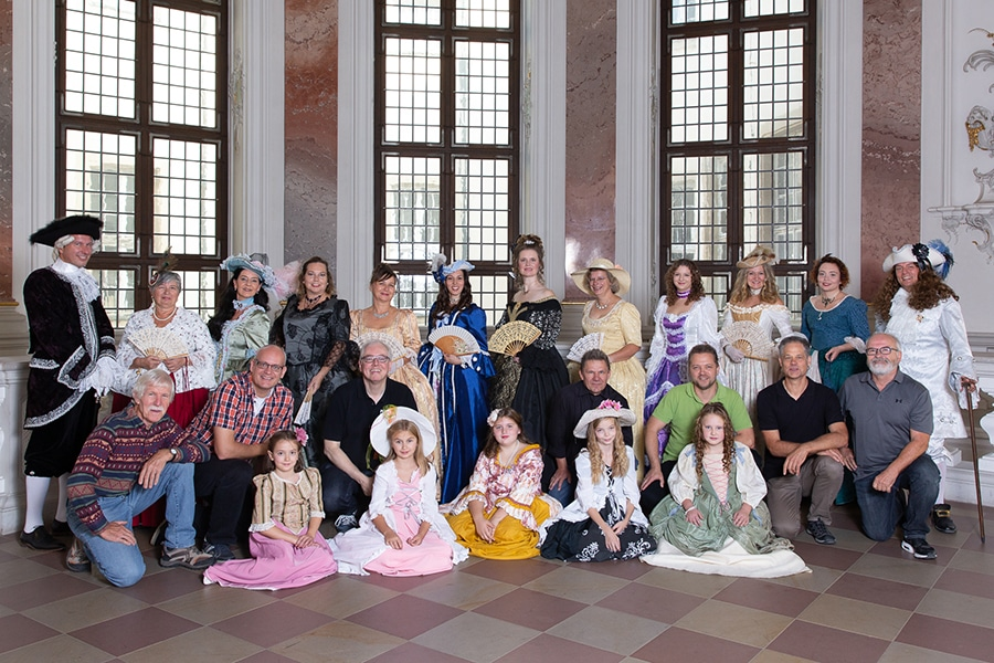 """Foto-Shooting im Barockschloss Bruchsal zusammen mit dem """"Käthchen-Hochzeitszug / KunST07 Heilbronn"""
