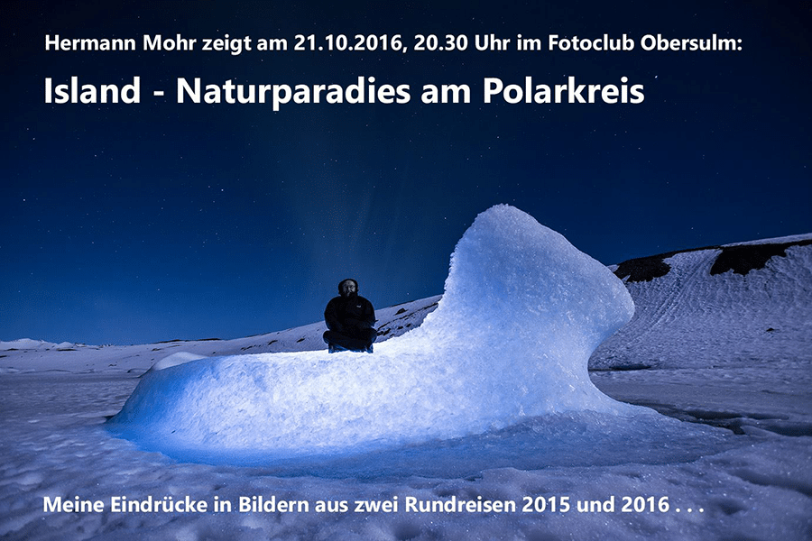 """Hermann Mohr zeigt """"Island – Naturparadies am Polarkreis"""""""