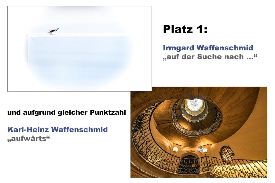 Bilder des Monats April 2020 – Wahl per Videokonferenz Platz 1: Irmgard Waffenschmid punktgleich mit ihrem Mann Karl-Heinz