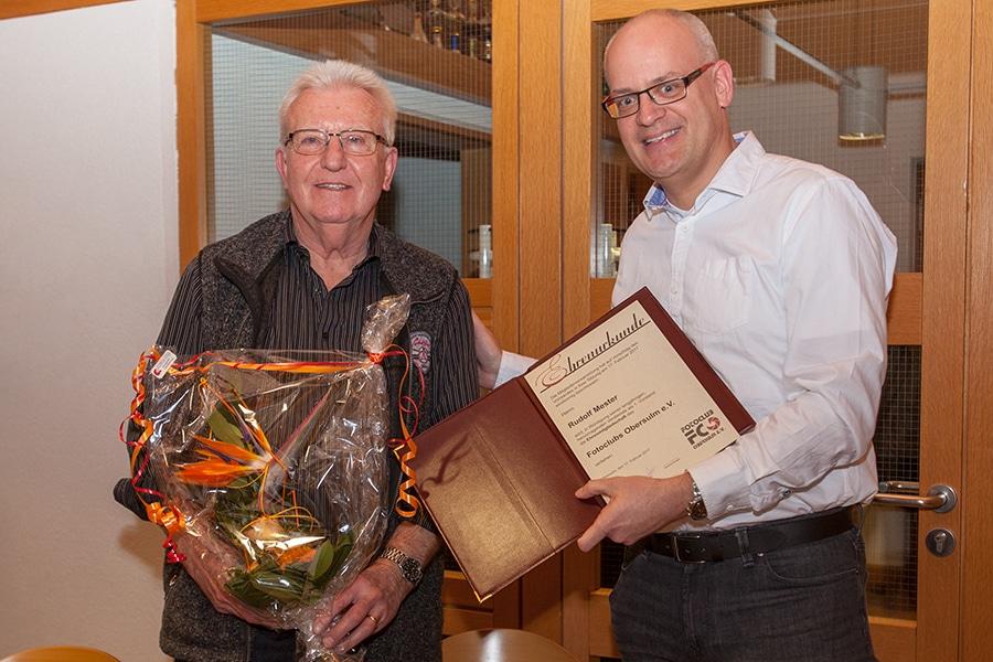 Fotoclub Obersulm gratuliert seinem Ehrenvorsitzenden Rudolf Mester zum 80sten Geburtstag
