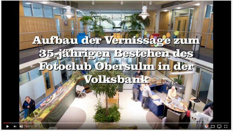"Aufbau der Ausstellung ""35 Jahre Fotoclub Obersulm"""