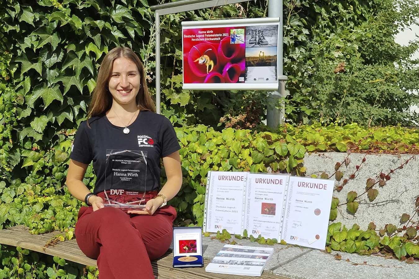 Hanna Wirth ist Deutsche Jugend–Fotomeisterin 2021